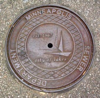 Minneapolis Man Hole Cover
